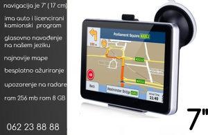 """Navigacija iGO primo 7"""" kamionski i auto program kamion"""
