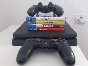 Playstation 4 Slim 1TB - Cyberpunk 2077, Fifa 21