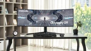 "Samsung Odyssey G9, 49"", DQHD, 1ms, 240Hz, HDMI, USBx2, G-SYNC"