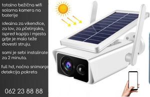 Bežična solarna wifi kamera - 24/7h video nadzor