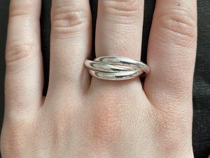 Ženski prsten, srebro