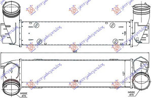 HLADNJAK INTERCOOLER 2.0-3.0 TD (508x130x105 BMW 3 (E92/93) COUPE/CABRIO 11-13