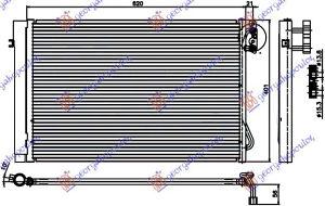 HLADNJAK KLIME 1.6-2.0-2.5.3.0 BENZ(58.7x40) BMW 3 (E92/93) COUPE/CABRIO 11-13