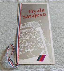 Zatvaranje ZOI Sarajevo 84 - menu sa večere meni MOK 84