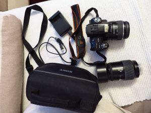Fotoaparat Sony A55 18-55mm i 100-300mm torba