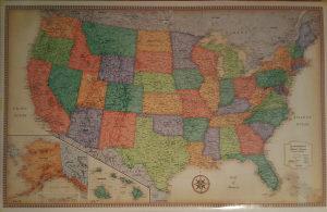 Karta USA 127cmx81cm