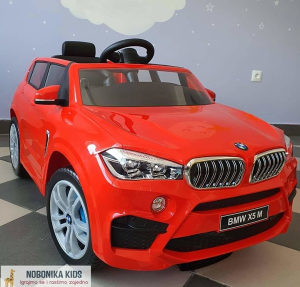 Auto na akumulator BMW X5 dzip djeciji 12V crveni