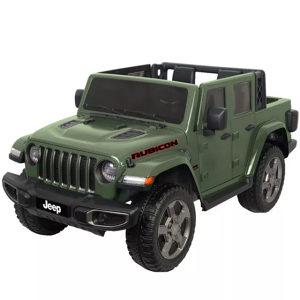 Auto na akumulator dzip Jeep djeciji 12V zeleni