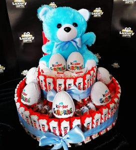 Poklon za rodjendan,godišnjicu,torta od slatkiša