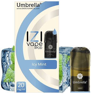 Umbrella Cigareta elektronska,Izi Pod Icy Mint 10mg,Izi