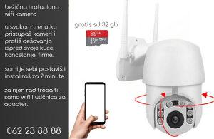 Bežični video nadzor kamera sa vrhun. slikom+SD 32 GB