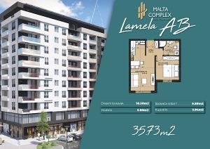 Novogradnja Malta Complex - lamela AB, 35.73 m2