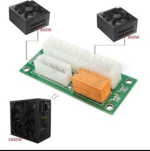 PSU Dual adapter dva napajanja Riser Rig mining bitcoin
