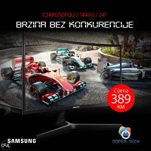 Monitor Samsung Odyssey CRG5 24'' 144Hz zakrivljeni