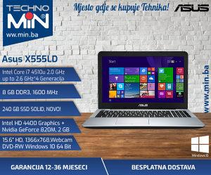 Asus X555LD, i7 4510U 2.0/8/240SSD/GeForce820M2GB