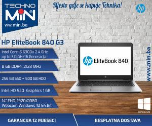HP 840 G3, i5 6300U 2.4/8/256SSD500HDD/FHD