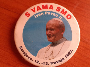 Suvenir PAPA IVAN PAVAO  II u SARAJEVU1997