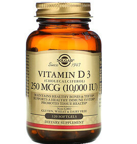 D3 Vitamin  250mcg 10000 IU 120 Softgels