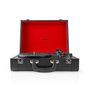 Gramofon NEDIS RETRO bluethooth zvucnicima kozni izgled