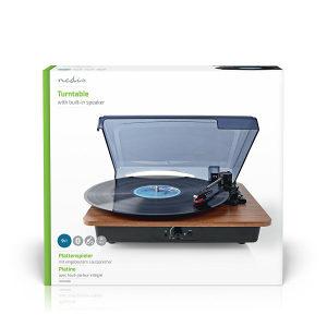 Gramofon NEDIS bluetooth zvucnicima 9W drveni