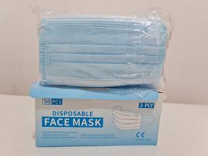 Troslojne Hiruške Zaštite Maske 50kom pakovanje
