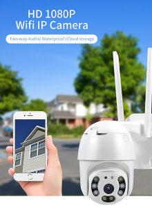 PTZ WiFi kamera 1080P, noćno snimanje i IP66