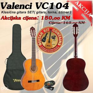 Gitara klasicna VALENCIA VC104 SET 4/4