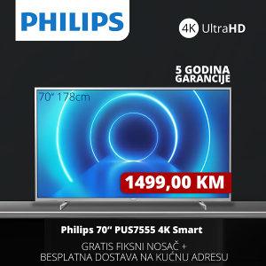 "TV PHILIPS SMART 4K LED 70"" 70PUS7555/12"