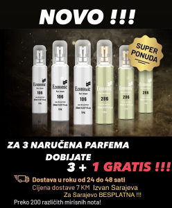 Economic Parfemi 3 + 1 GRATIS !!!