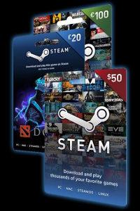 Steam Wallet | £ / $ / € |