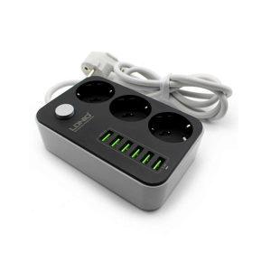 LDNIO PRODUŽNI KABEL   6 USB ZA PUNJENJE