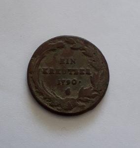 1 krajcer 1790 kreutzer kreuzer