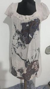 Zenska tunika haljina lan pamuk S/M