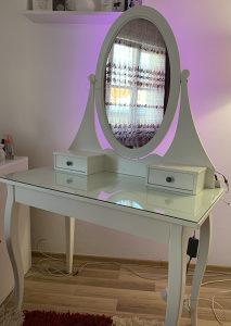 IKEA HEMNES sto za sminkanje sa rgb led svjetlom