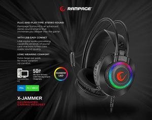 Slušalice Rampage Gaming RM-K27 X-JAMMER 7.1 Surround