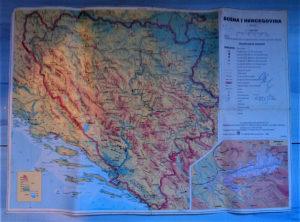 Geografska karta BiH