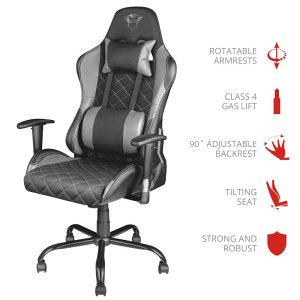 GXT 707G Resto Gaming Chair - grey