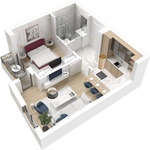 Jednoiposoban stan u novoj gradnji! ID:1497/EN