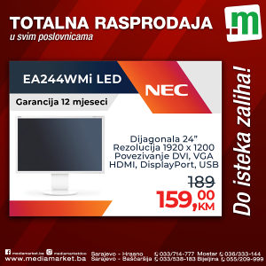 """24"""" FULL HD Monitor NEC 1920x1200 VGA DVI HDMI DP +usb"""