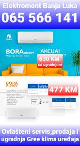 Klima Gree Bora12 sa ugradnjom 630KM BanjaLuka