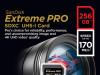 SanDisk 256 GB SDXC ExtremePro 170MB/s V30 UHS-I U3