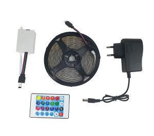 LED TRAKA RGB sa daljinskim / 15 boja