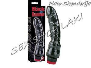 Vibrator 22 cm Black Hammer / Seksualna pomagala