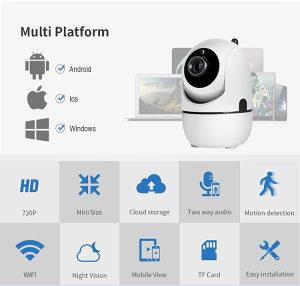 WiFi HD kamera sa noćnim snimanje i detekcijom pokreta