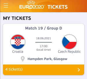 EURO 2021 HRVATSKA vs ČEŠKA