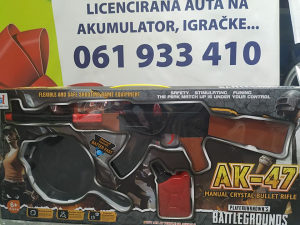 Kalaš dječija puška na baterije razne igračke