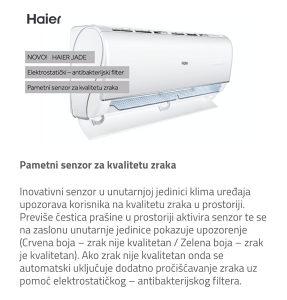 Klima INVERTER Haier JADE Wi-Fi -30°C grijanje B.Luka