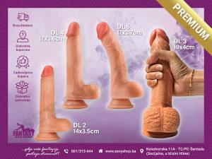Dildo Dual Layered - razne veličine | SEX SHOP FANTASY