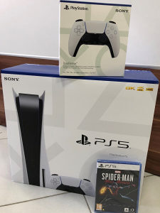 Play station 5 + PS5 DUALSENSE WIRELESS CONTROLER
