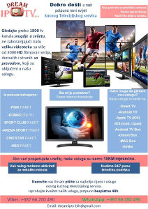 Dream IPTV HD kanali TEST 48h